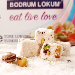 BDRM Bodrum Lokum Hindistan Cevizli Antep Fistıklı Lokum 1kg