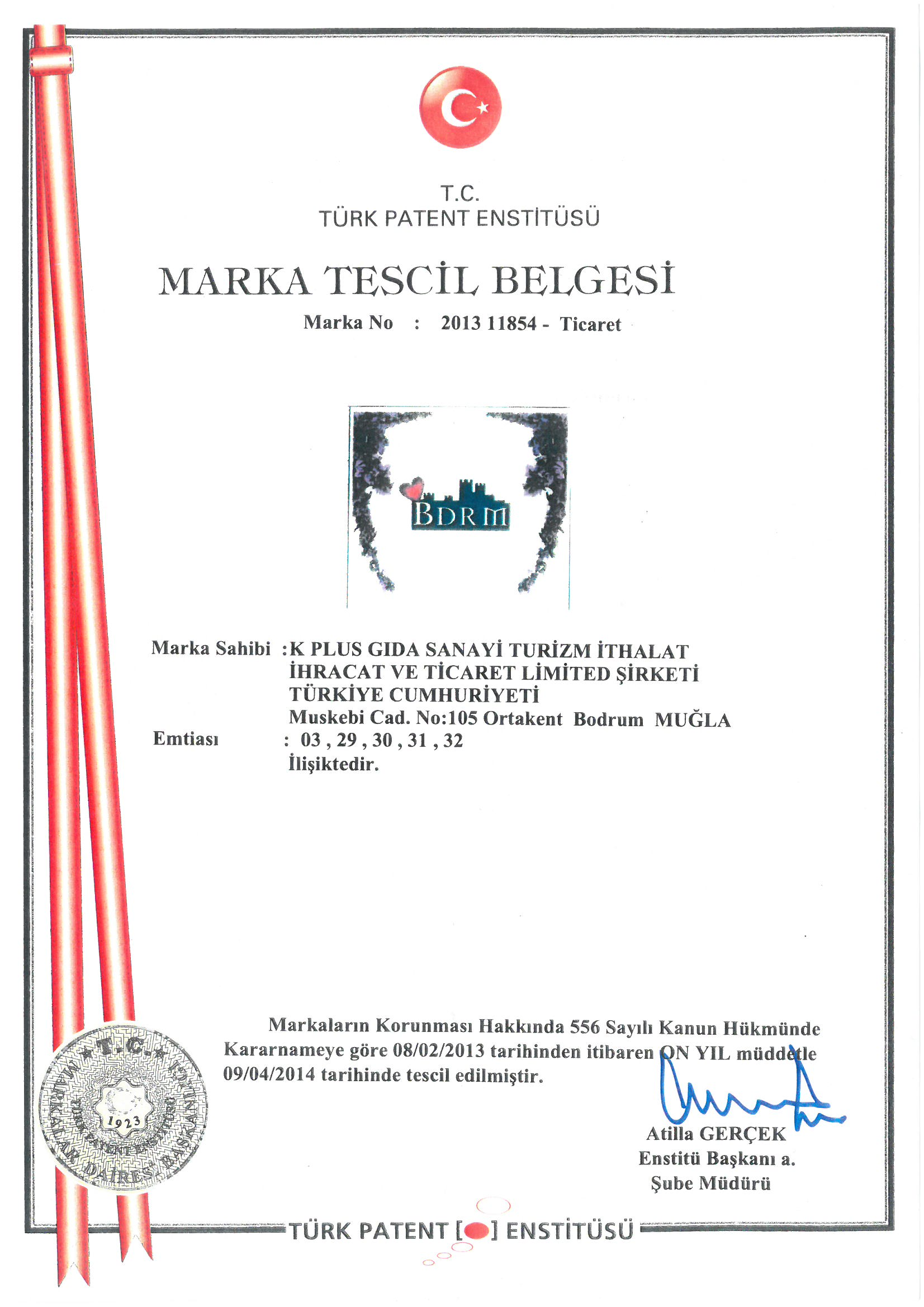 BDRM Lokum Marka Tescil